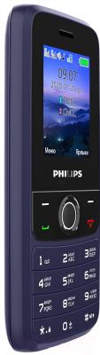 Мобильный телефон Philips Xenium E117 (темно-синий)