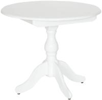 Обеденный стол Экомебель Дубна Фаворит Классика 90x90-127 (белая эмаль) -