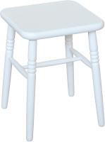 Табурет Экомебель Дубна Классика 35x35x45 (белая эмаль) -