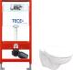 Унитаз подвесной с инсталляцией Керамин Гранд R + 9300000 (с жестким сиденьем) -