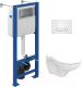 Унитаз подвесной с инсталляцией Керамин Гранд R + S-IN-MZ-VECTOR + P-BU-INT/Wh -