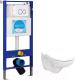 Унитаз подвесной с инсталляцией Керамин Гранд R + INS-0000004 (с жестким сиденьем) -