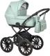 Детская универсальная коляска INDIGO Broco Eco Plus 14 2 в 1 (Be 04, шалфей кожа) -