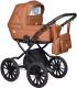 Детская универсальная коляска INDIGO Broco Eco Plus 14 2 в 1 (Be 06, коричневая кожа) -