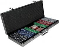 Набор для покера No Brand B-500 (в чемодане, 500 фишек) -