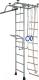 Детский спортивный комплекс Крепыш Т-образный с навесным турником (серый) -