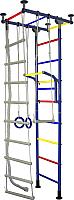 Детский спортивный комплекс Крепыш Г-образный (с ПВХ покрытием, синий) -