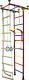 Детский спортивный комплекс Крепыш Г-образный (с ПВХ покрытием, бордовый) -