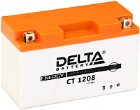 Мотоаккумулятор DELTA AGM СТ 1208 YT7B-BS / YT7B-4 / YT9B-BS (8 А/ч) -