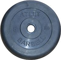 Диск для штанги MB Barbell Atlet d26мм 5кг (черный) -