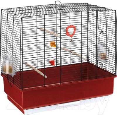 Клетка для птиц Ferplast Rekord 4 / 52003817 (черный/красный)