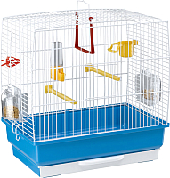 Клетка для птиц Ferplast Rekord 2 / 52007811W1 (белый/голубой) -