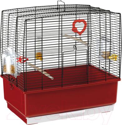 Клетка для птиц Ferplast Rekord 3 / 52009817 (черный/красный)