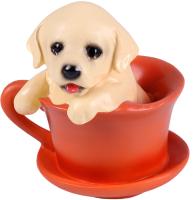 Статуэтка Darvish Собачка в чашке с блюдцем / DV-H-1332 -
