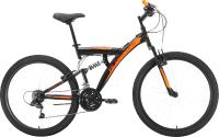 Велосипед Black One Flash FS 26 2021 (20, черный/оранжевый) -