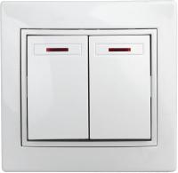 Выключатель INTRO Plano 1Э-105-01 / Б0038826 (белый) -
