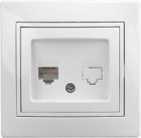 Розетка INTRO Plano 1-302-01 / Б0027619 (белый) -