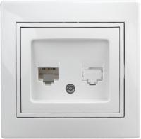 Розетка INTRO Plano 1Э-303-01 / Б0038835 (белый) -
