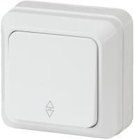 Выключатель INTRO Quadro 2-103-01 / Б0027637 (белый) -
