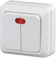 Выключатель INTRO Quadro 2-105-01 / Б0027643 (белый) -