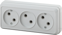 Розетка INTRO Quadro 2-205-01 / Б0036141 (белый) -