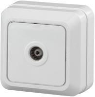 Розетка INTRO Quadro 2-301-01 / Б0027658 (белый) -