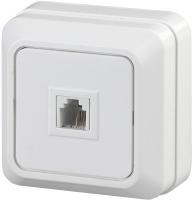 Розетка INTRO Quadro 2-302-01 / Б0027661 (белый) -