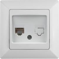 Розетка INTRO Solo 4-302-01 / Б0043375 (белый) -