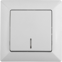 Выключатель INTRO Solo 4-102-01 / Б0043270 (белый) -