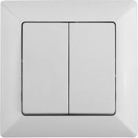 Выключатель INTRO Solo 4-104-01 / Б0043284 (белый) -