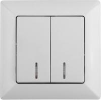 Выключатель INTRO Solo 4-105-01 / Б0043291 (белый) -