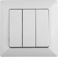 Выключатель INTRO Solo 4-106-01 / Б0043298 (белый) -