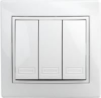 Выключатель INTRO Plano 1-106-01 / Б0027605 (белый) -