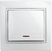 Выключатель INTRO Plano 1Э-102-01 / Б0038823 (белый) -
