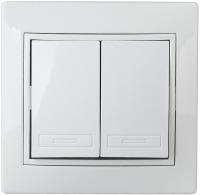 Выключатель INTRO Plano 1Э-104-01 / Б0038825 (белый) -