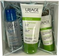 Набор косметики для лица Uriage Hyseac Вода мицелярная+Гель+Крем (50мл+50мл+15мл) -