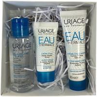 Набор косметики для лица и тела Uriage Eau Thermale Вода мицелярная+Крем+Крем для рук (50мл+15мл+30мл) -