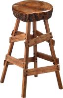 Табурет барный Sheffilton SHT-ST18-1/S81 (темный янтарь/брашированный коричневый) -