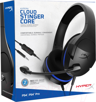 Наушники-гарнитура HyperX Cloud Stinger Core (HX-HSCSC-BK)