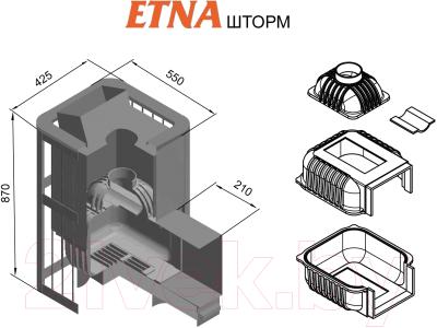 Печь-каменка Этна Шторм 18 (ДТ-4С)
