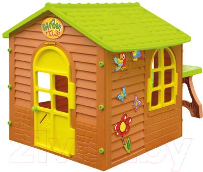 Домик для детской площадки Mochtoys Со столом 11045