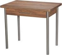 Обеденный стол Древпром М20 90x60 с ящиком (металлик/сомеро) -