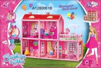 Кукольный домик Симбат С фигурками и мебелью / A1280061B -