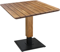 Обеденный стол Sheffilton SHT-TU22/TT5 Дуб (массив дуба/металл) -