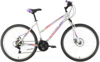 Велосипед Black One Alta 26 D 2021 (18, серебристый/фиолетовый/розовый) -