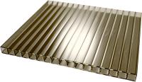 Сотовый поликарбонат TitanPlast 1050x1000x6 (бронза) -