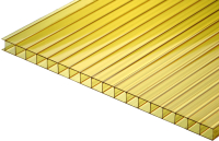 Сотовый поликарбонат TitanPlast 1050x2000x4 (желтый) -