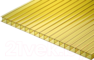 Сотовый поликарбонат TitanPlast 1050x2000x4 (желтый)