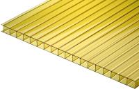 Сотовый поликарбонат TitanPlast 1050x1000x6 (желтый) -