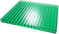 Сотовый поликарбонат TitanPlast 1050x2000x4 (зеленый) -